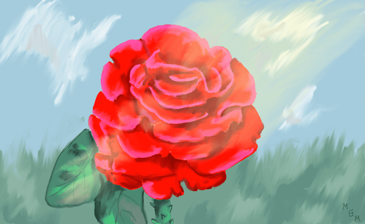 Rose Painting for Backgrounds