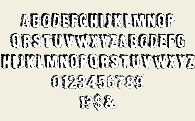 sketched outlined fonts 1