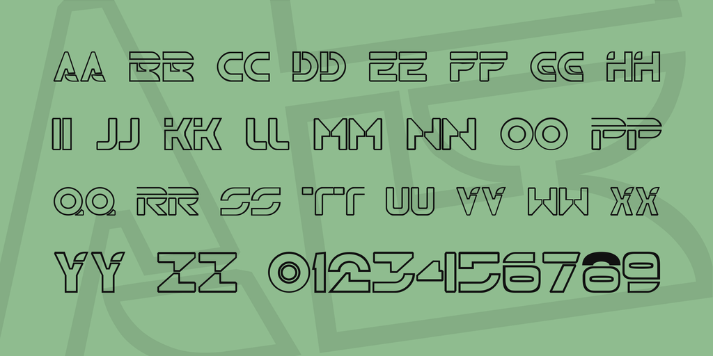 Outined Tron Movie Font