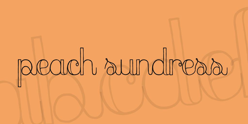 Cursive Outlined Font
