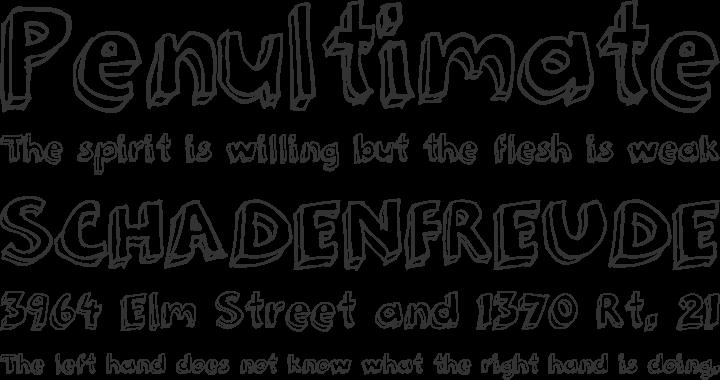 Hand Written Outline Font