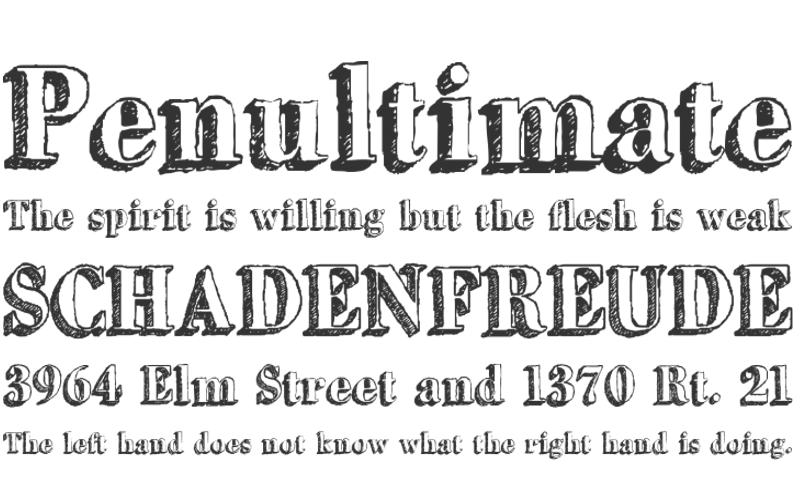 Serif Outlined Font
