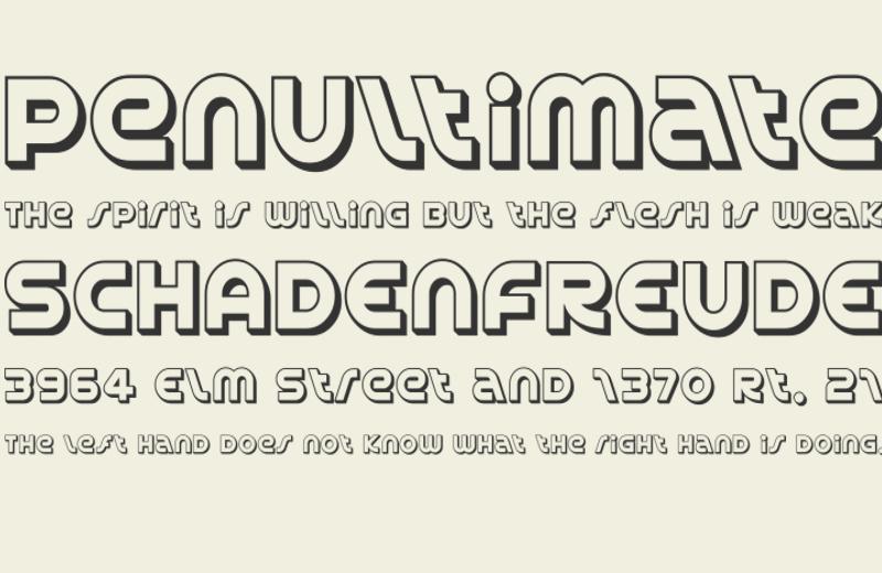 Sans Serif Outline Font