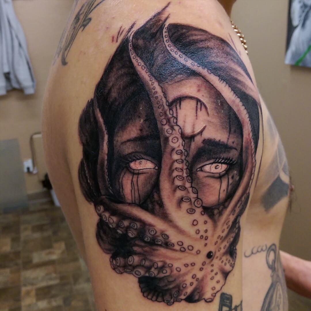 Devil Octopus Tattoo (1)