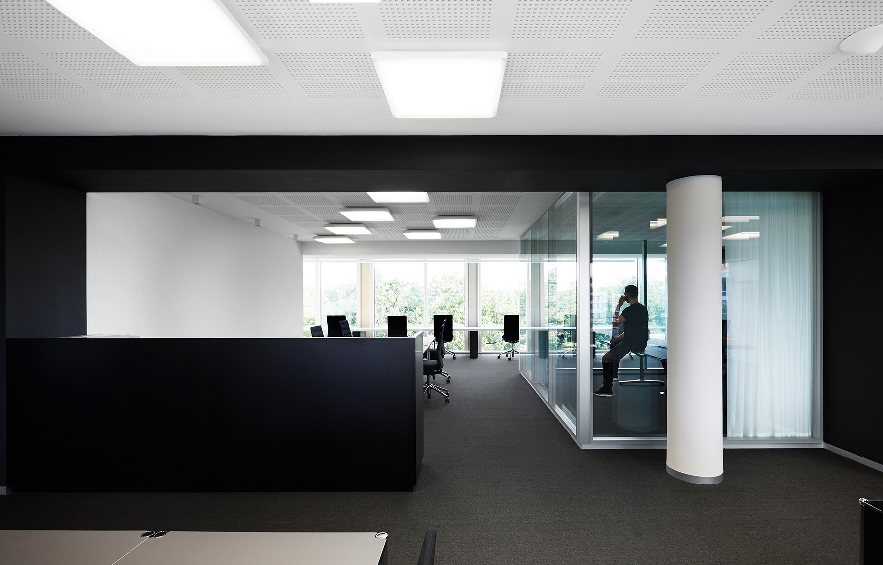 houzz interior design ideas office designs. black and white office interior. international company interior design houzz ideas designs