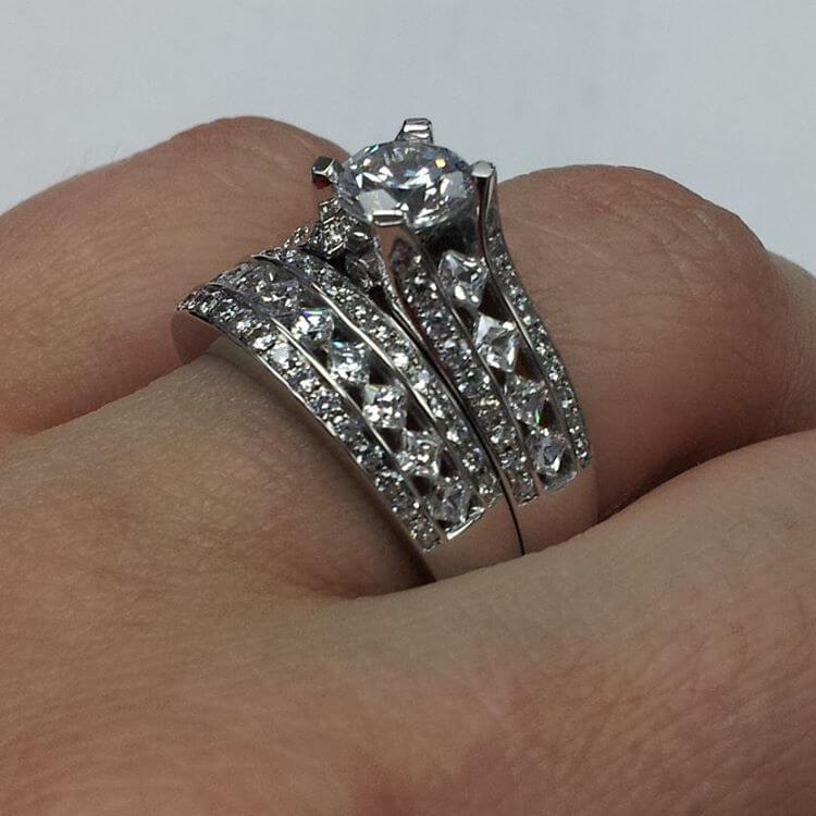 Gorgeous Princess Cut Engagement Ring
