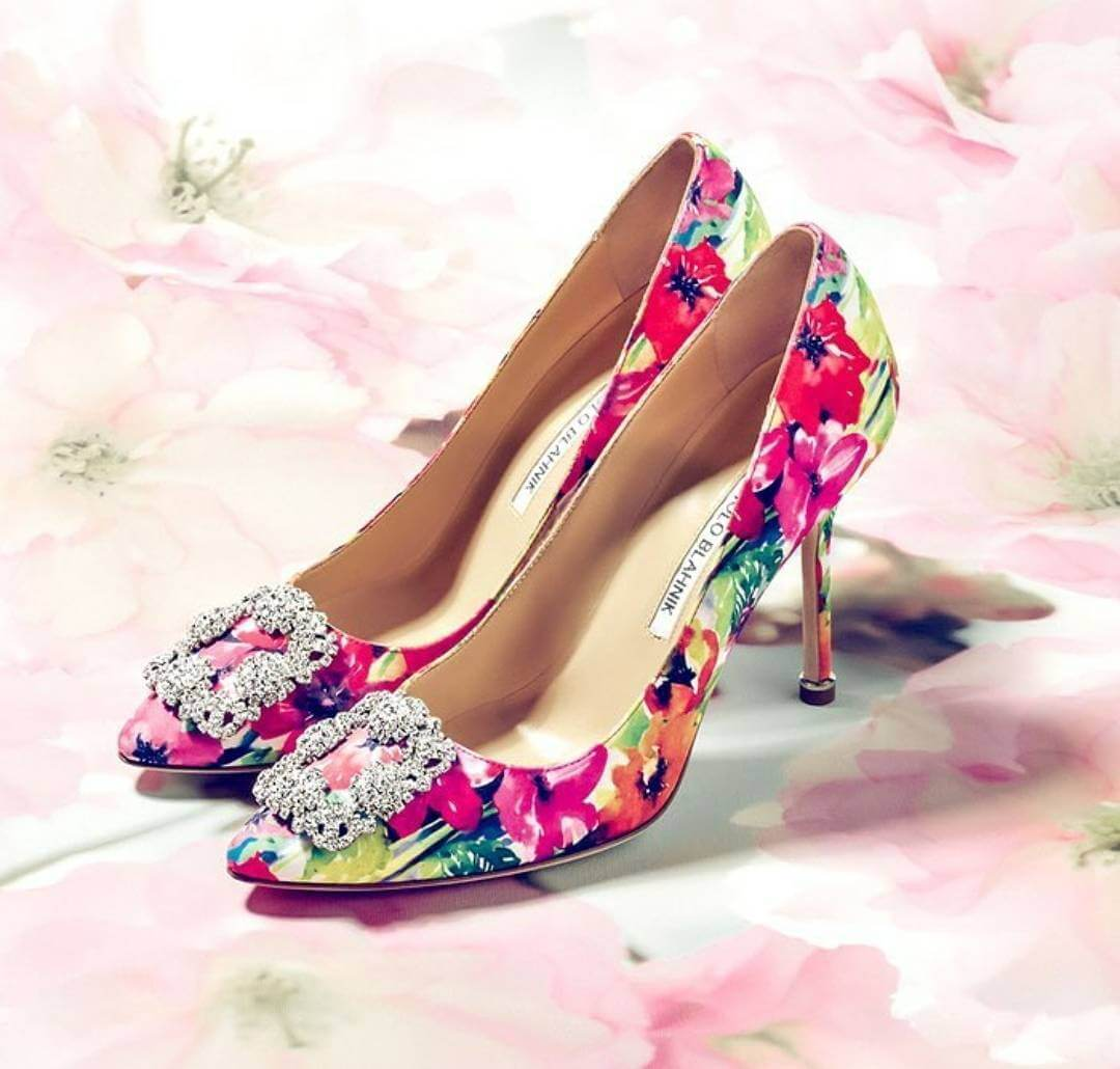 Floral Pattern Rich Wedding Shoes