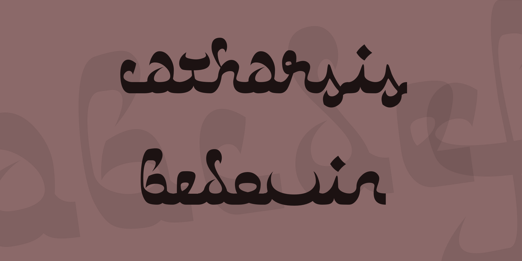 Arabic Calligraphy Fonts