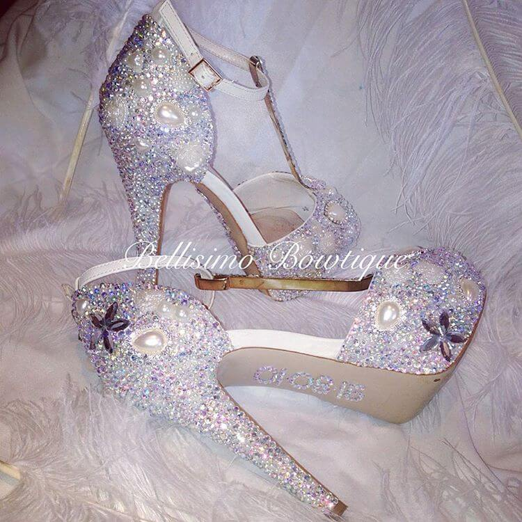 Crystallized Womens Summer Weeding Shoes