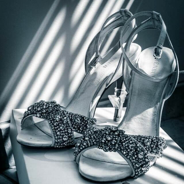 Beautiful Silver Wedding Shoes