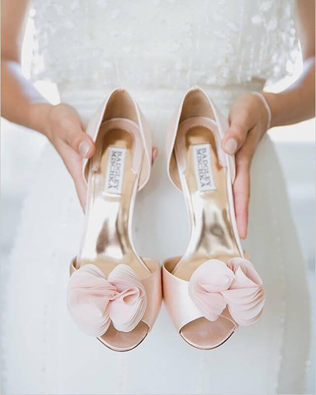 pink satin ladies wedding shoes
