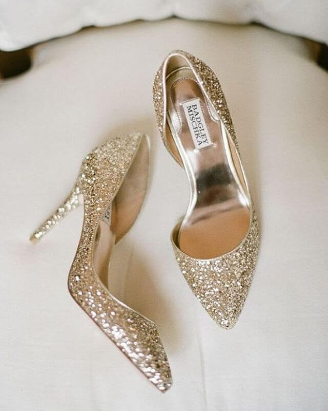 Gold Wedding Shoes for Summer