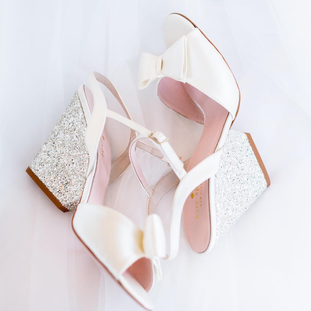 dazzling wedge wedding shoes