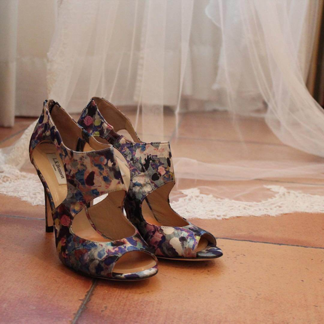 colorful summer wedding shoes