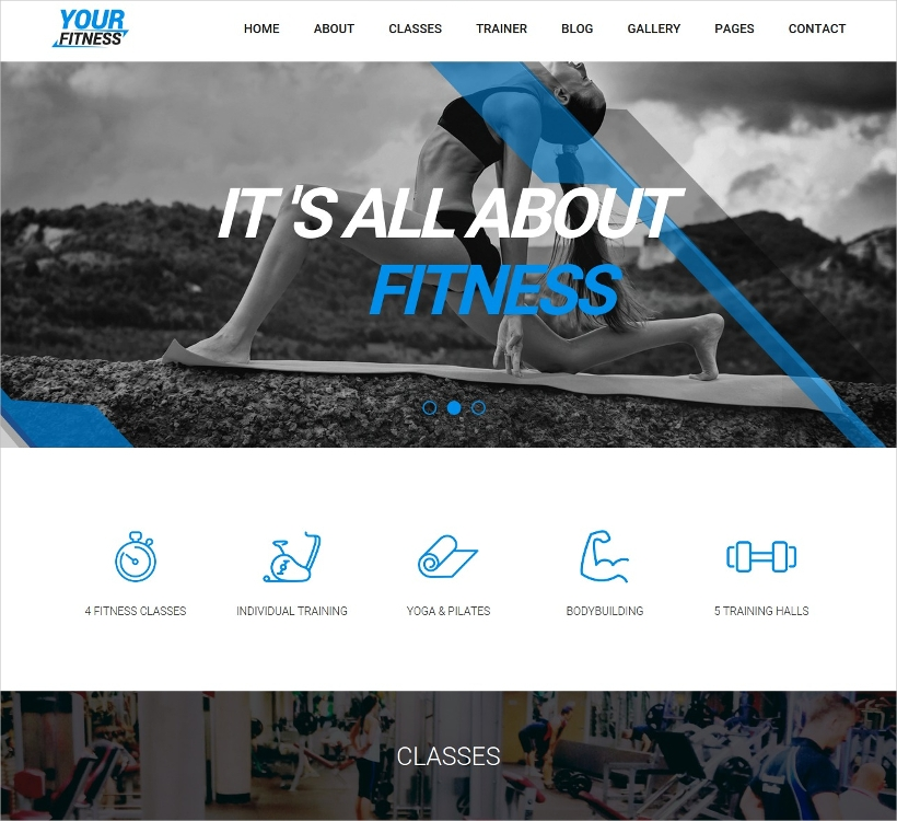 Coolest Health & Fitness Theme