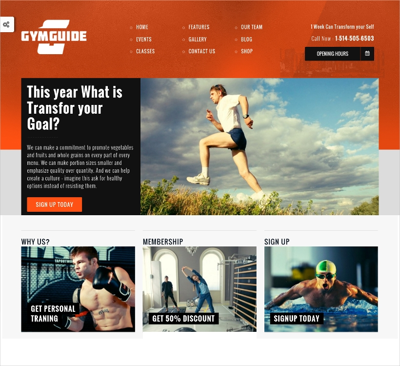 Fitness Sport WordPress Theme