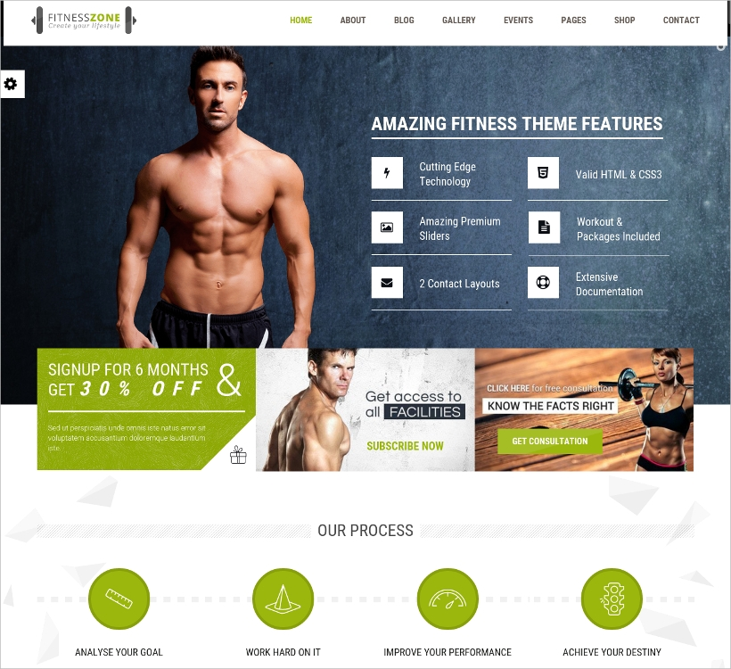 Health & Fitness Website Template