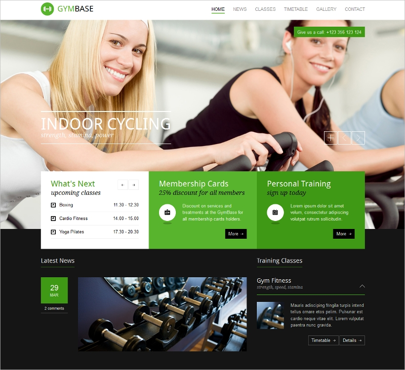 Responsive Gym & Fitness WP Theme