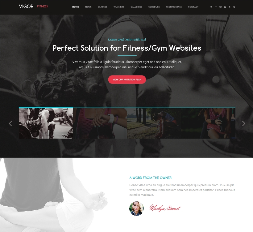Vigor Fitness WP Theme