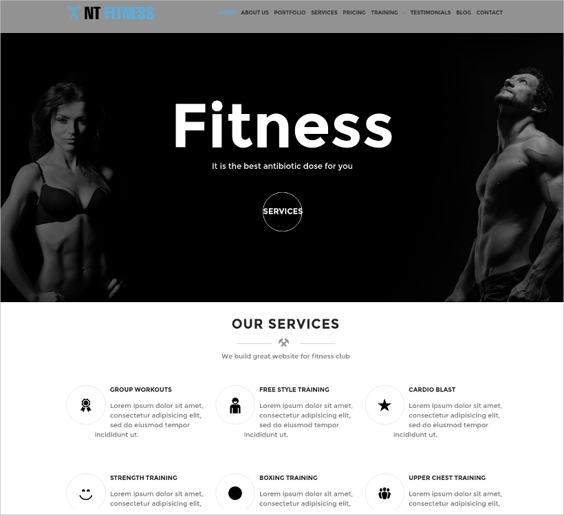 WordPress Fitness Template