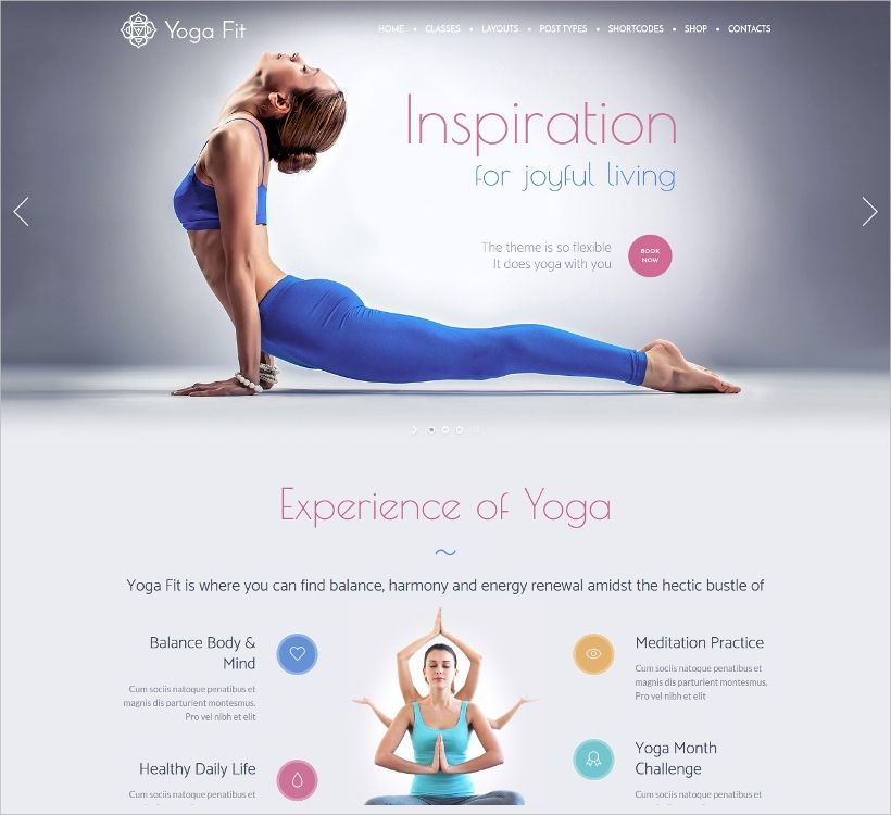 Yoga Fit Responsive Theme