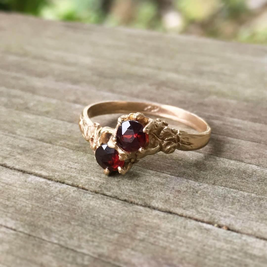 glorious 14 carat vintage engagement ring