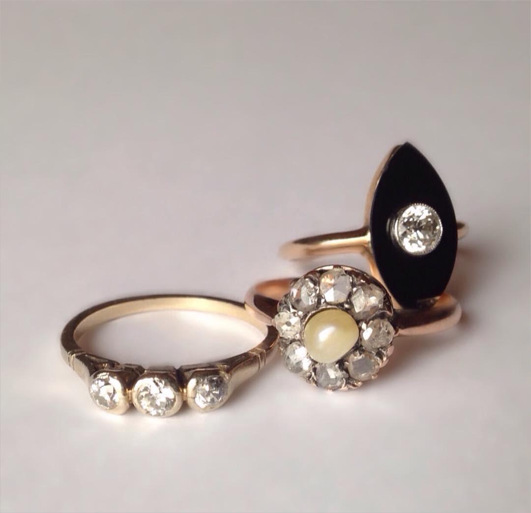 pretty diamond vintage rings