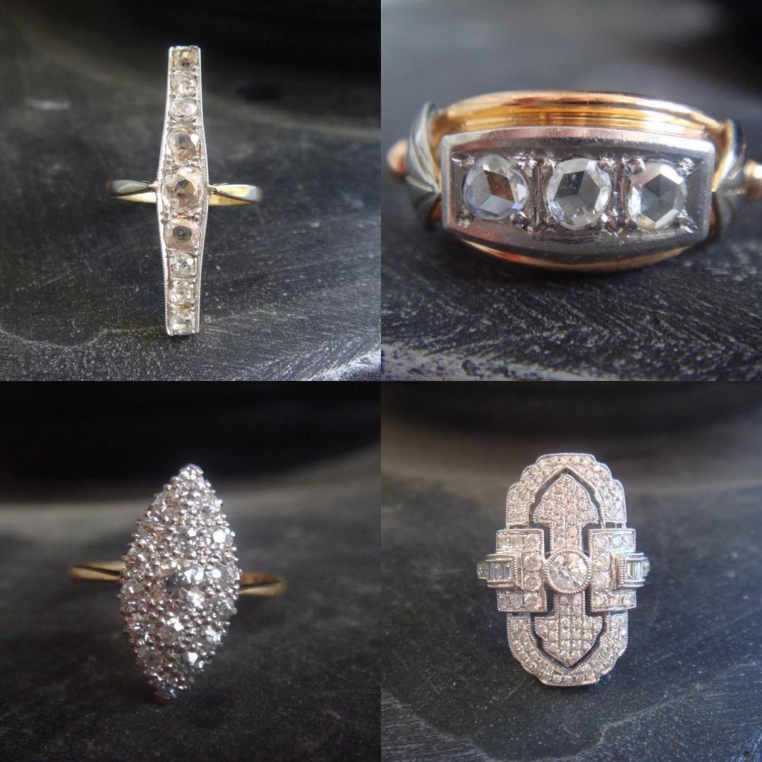 fashionable vintage art deco rings