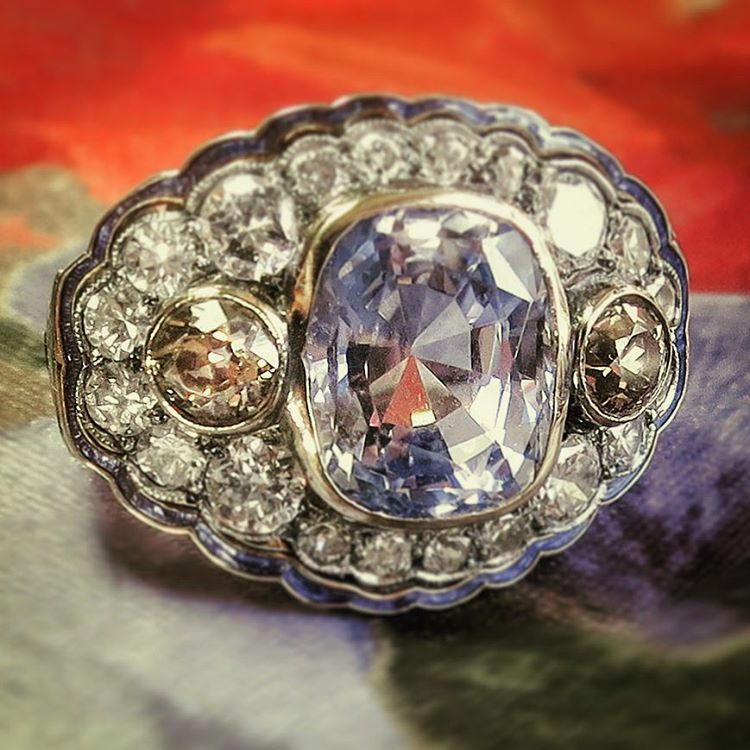 outstanding vintage antique engagement ring
