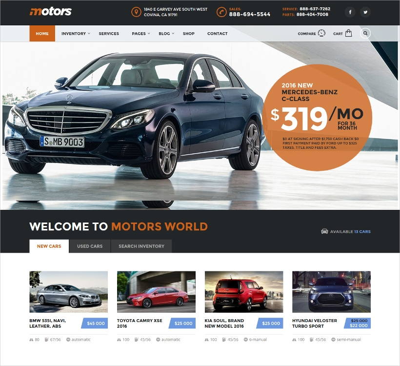 Car Dealership Business & Classified Listing Theme