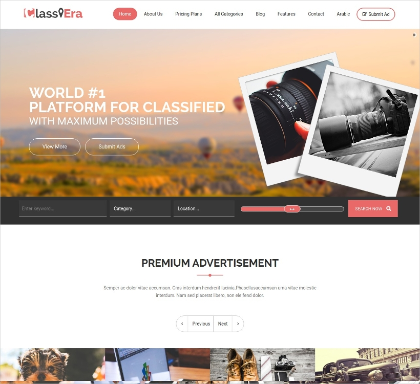 Classiera Responsive Classified Theme