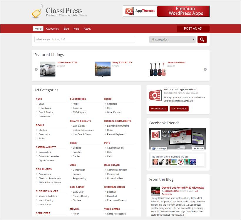 ClassiPress WordPress Classified Theme