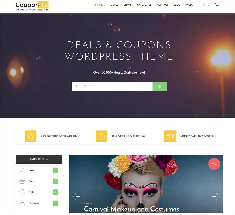 coupons deals wordpress theme