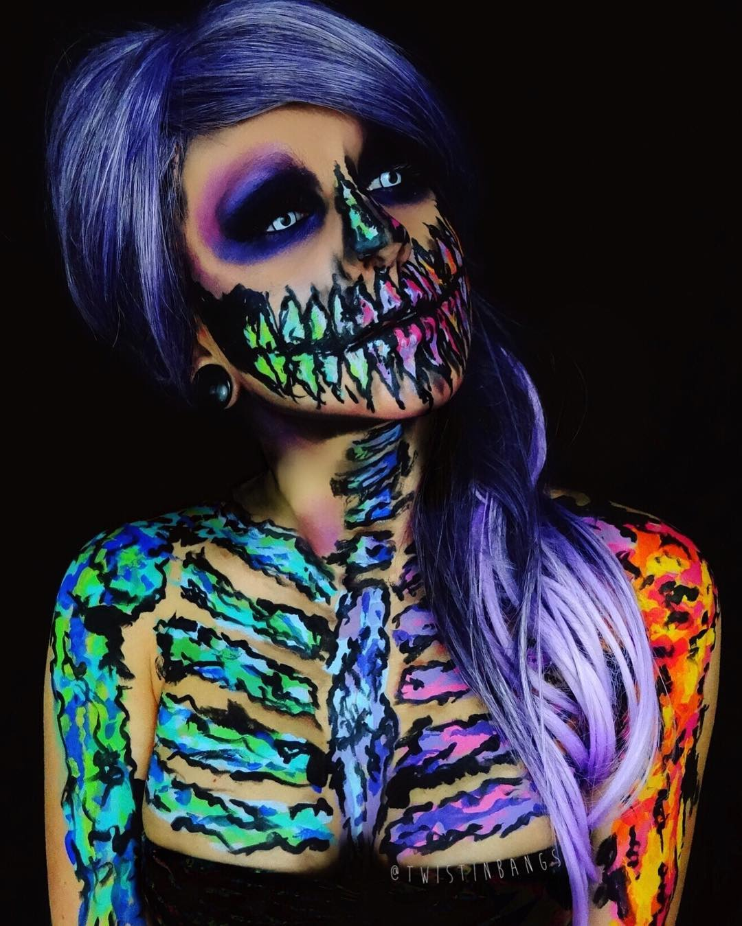 halloween body painting