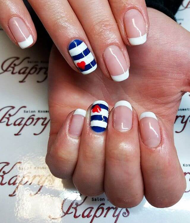 Beautiful French Nail Art Designs: 21+ French Nail Art Designs, Ideas