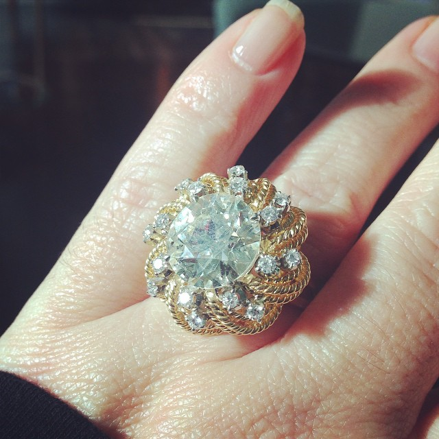designer vintage estate engagement ring