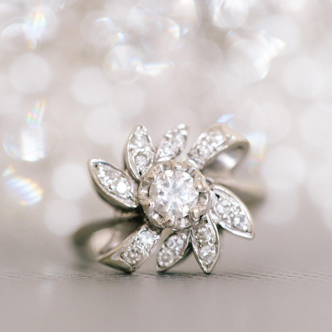 cocktail vintage diamond engagement ring