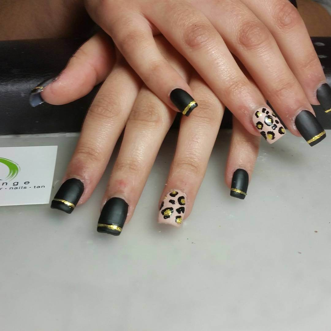 Black Leopard Nail Art - 20+ Leopard Nail Art Designs, Ideas Design Trends - Premium PSD