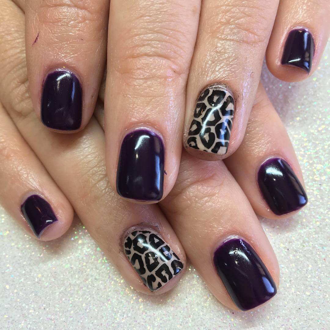 dark leopard nail art 1