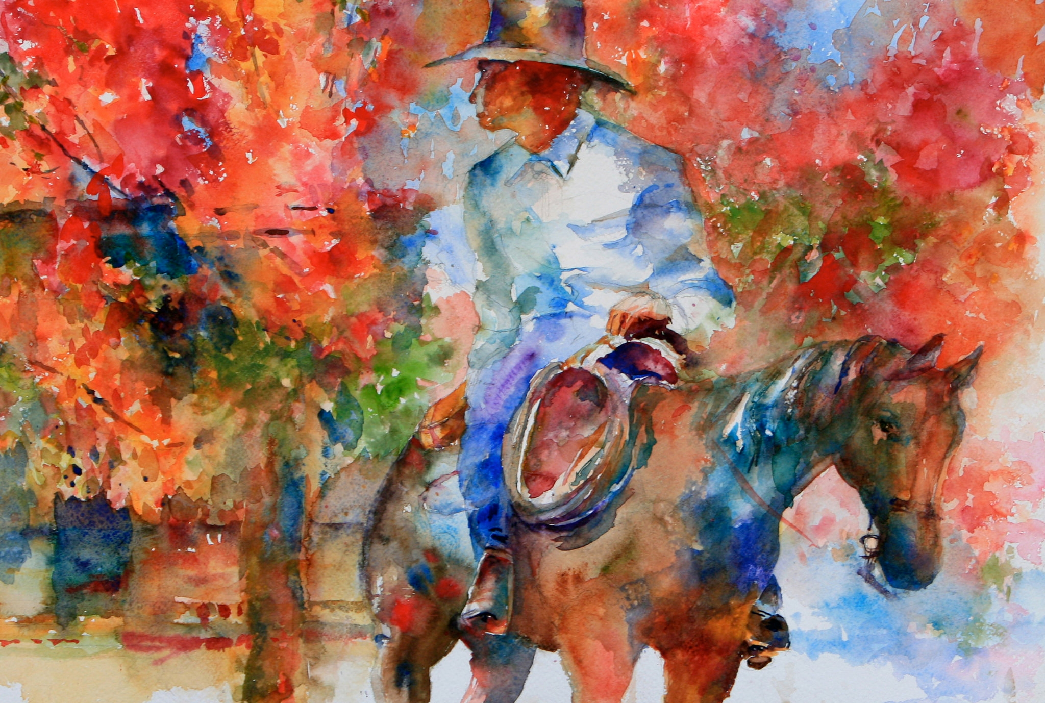 elegant colorful watercolor art picture