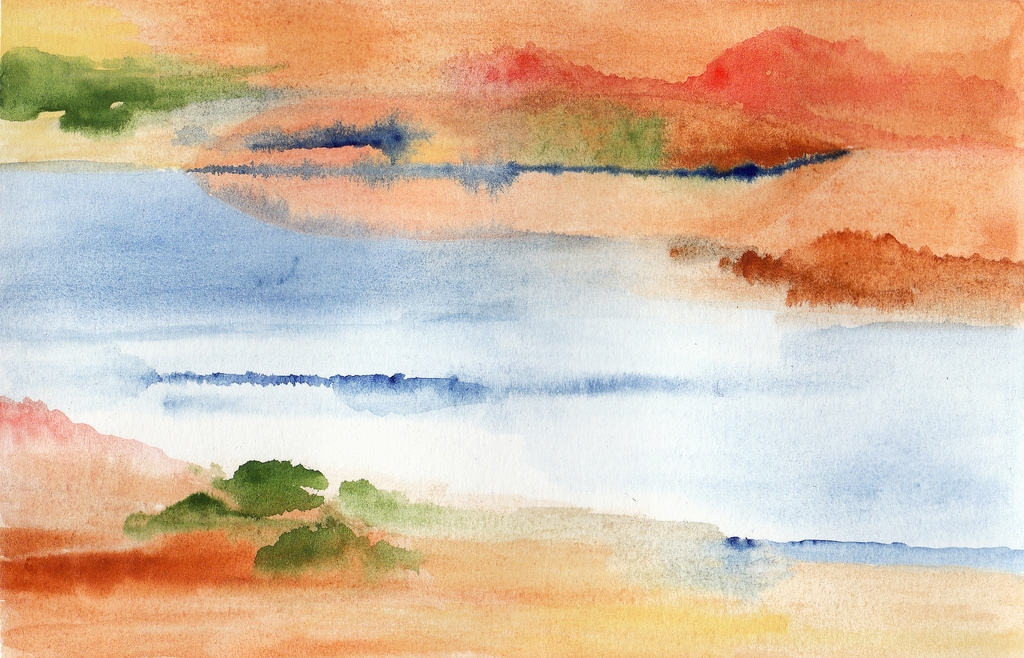 watercolor river painting texture