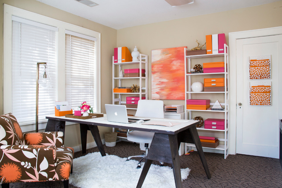 Colorful Home Office 21+ feminine home office designs, decorating ideas | design trends