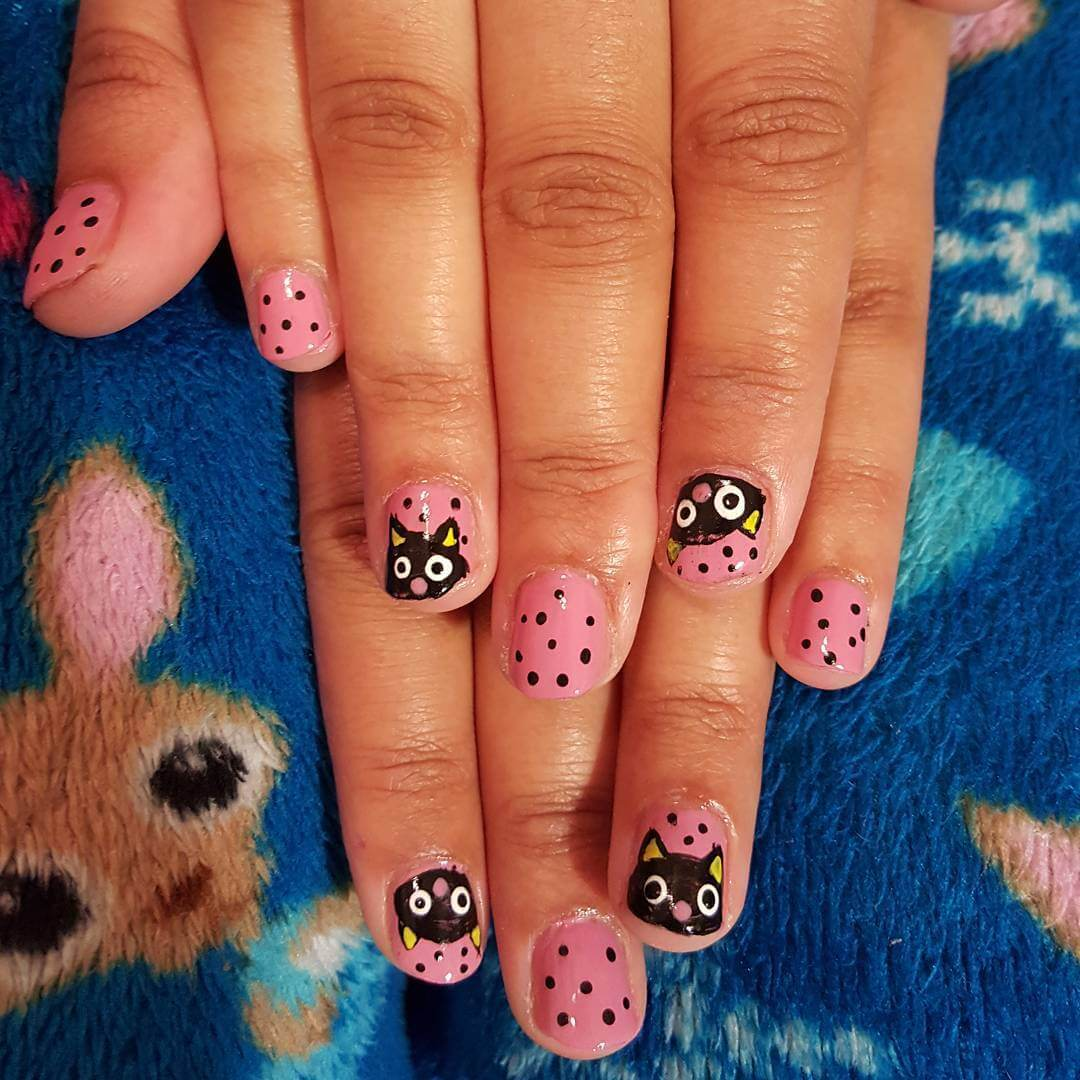 cat nail designs for short nails 1