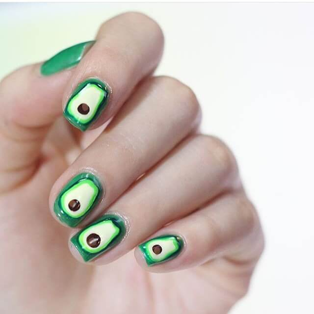 Green Short Nail Design (1)