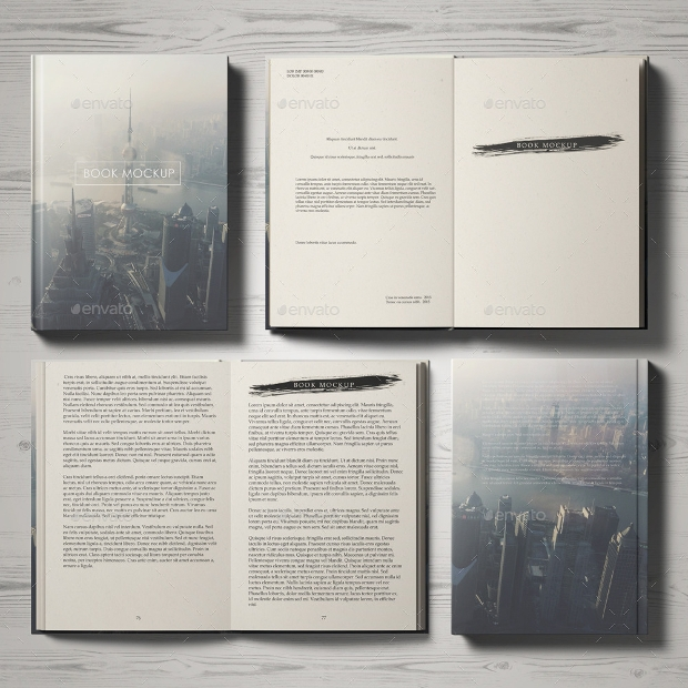 book mockup with hardcover