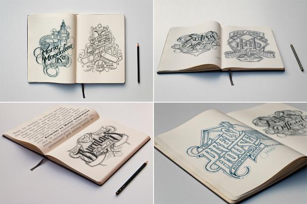 sketch book mockup design