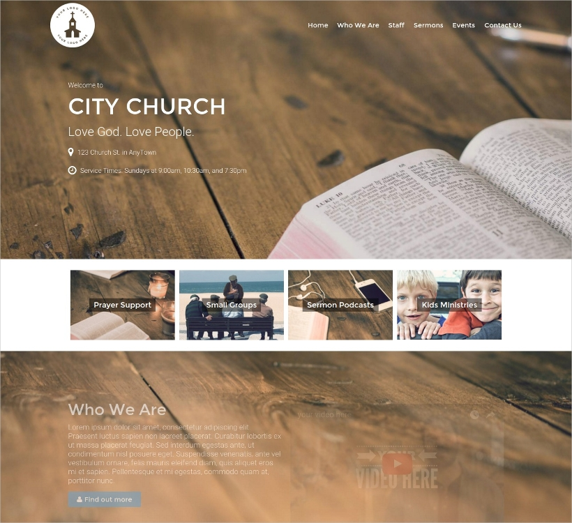 Beautiful Church Podcasting WP Theme
