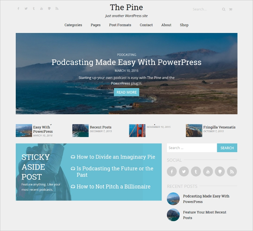 Responsive Podcast WordPress Theme