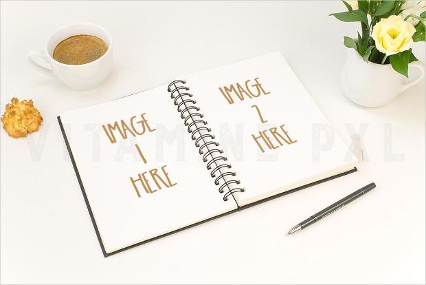 Notebook Mockup Design