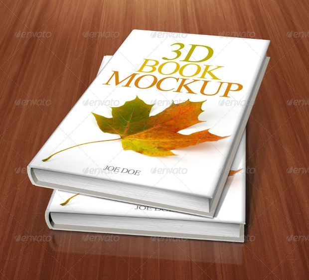 3d book design mockup